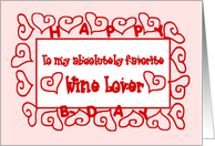 Wine Love Happy Birthday card