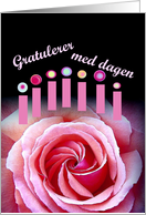 Gratulerer med dagen Happy Birthday - NORWEGIAN card