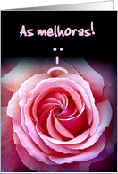 As melhoras! Get Well Soon - Portuguese card