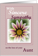 Sympathy - Loss of AUNT card