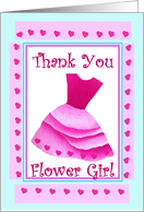 Flower Girl - THANK YOU - Pink Dress card
