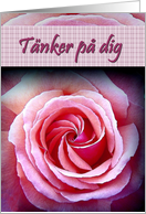 T�nker p� dig - Swedish Thinking of You card