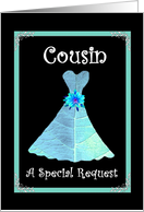 COUSIN Junior Bridesmaid - Turquoise Gown card