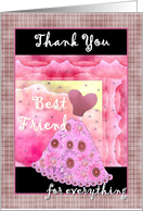 BEST FRIEND - Matron of Honor - Thank You card