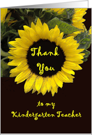 Kindergarten Teacher Thank You - from Child card