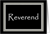 Reverend - Perform Our Marriage Ceremony card
