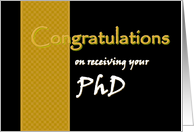 PhD - Congratulations card