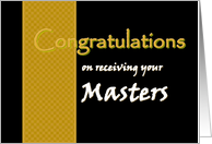 Masters Degree - Congratulations card