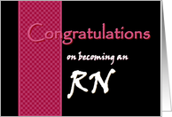 RN - Congratulations card