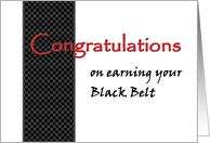 BLACK Belt Martial Arts Congratulations card