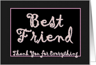 BEST FRIEND - Matron of Honor Thank You card