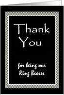 Ring Bearer - THANK YOU card