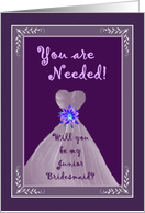 Junior Bridesmaid Invitation card