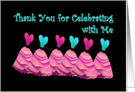 THANK YOU - Bachelorette Party with Pink Gowns card