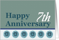 7th Employee Anniversary card