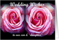 Congratulations - Our Son's Wedding card