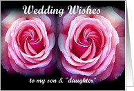 Congratulations - My Son's Wedding card