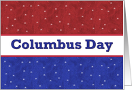 COLUMBUS DAY - Red, White and Blue Stars card