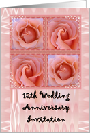 15th Anniversary Invitation with Roses card
