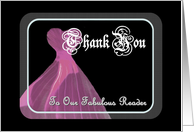 Wedding Reader THANK YOU - Purple Gown card