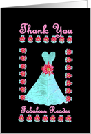 Wedding Reader THANK YOU - Turquoise Gown card