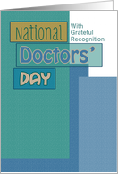 National Doctors' Day Blue Scrapbook Look Custom card