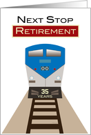 Invitation Retirement Party Railroad Custom Year Train Station Sign card