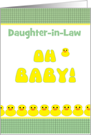 Daughter-in-Law Baby Shower Cute Yellow Duckies Customize Relation card