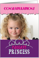 Pageant Princess Congratulations Winner Tiara in Purple Photo Card