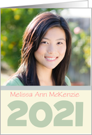 College Graduation Announcement 2013 Sage Photo card Custom Name card