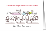 National Hemophilia Awareness Month Together Find a Cure card