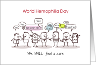 World Hemophilia Day Together Will Find a Cure card