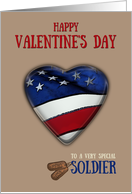 Patriotic Valentine's Day card for soldier card