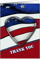 Thank you military Patriotic heart card