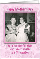 Mother's Day Retro Photo PTA Humor Cocktail Hour card