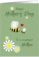 Mother's Day Cute Daisies and Bees card