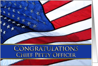 Congratulations Chief Petty Officer card