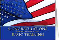 Basic Training Graduation Congratulations- American Flag card