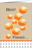 Happy Birthday Best Fishes Goldfish card