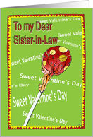 Valentine - sister-in-law card