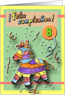 8th Birthday - Spanish card