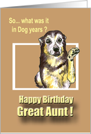 Happy Birthday - great aunt card