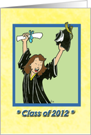 Class of 2012 - Graduation - female card
