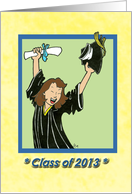 Class of 2013 - Graduation - female card