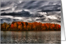 Stormy Fall Clouds Over Nimisila Lake Blank Note Card