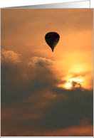 Balloon At Sunrise card
