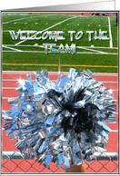 Welcome to the team pom pom card