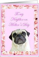 Happy Mother's Day Neighbor pug card