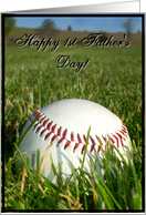 Happy 1st Father's Day Baseball card
