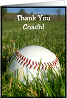 Thank You Coach Baseball card